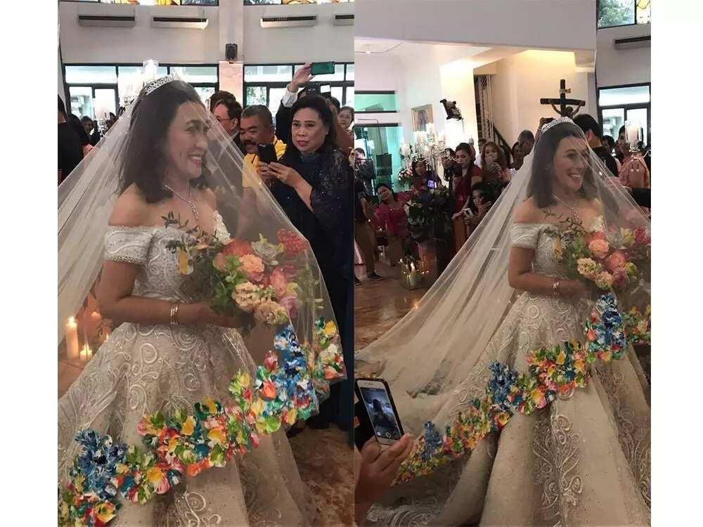 Bongga Ang Gift Ai Ai Delas Alas Elegant Wedding Gown Is A Gift