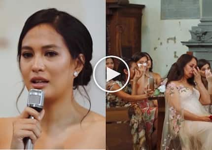 Isabelle Daza's heartfelt wedding vow will leave you sobbing like crazy