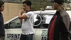 Vigilant Pinoy policemen at NAIA arrest taxi driver for stealing P10K from female passenger