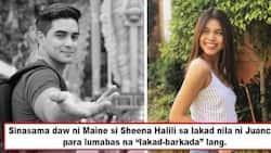 """Para daw magmukhang lakad-barkada? Maine Mendoza allegedly lets Sheena Halili tag along date with Juancho Trivino to make it look like a 'tropa"""" night"""