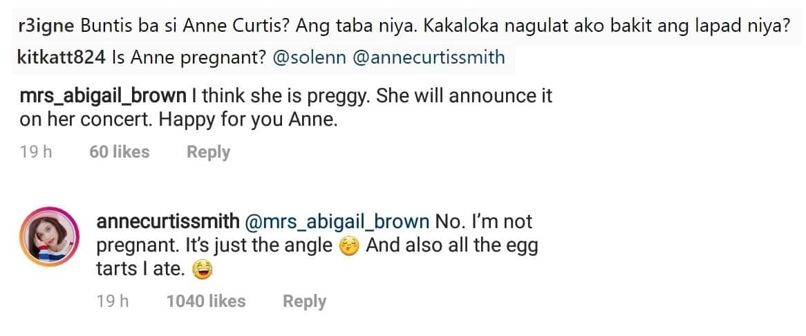 Anne Curtis responds to netizens who assumed that she's pregnant based on her viral photo