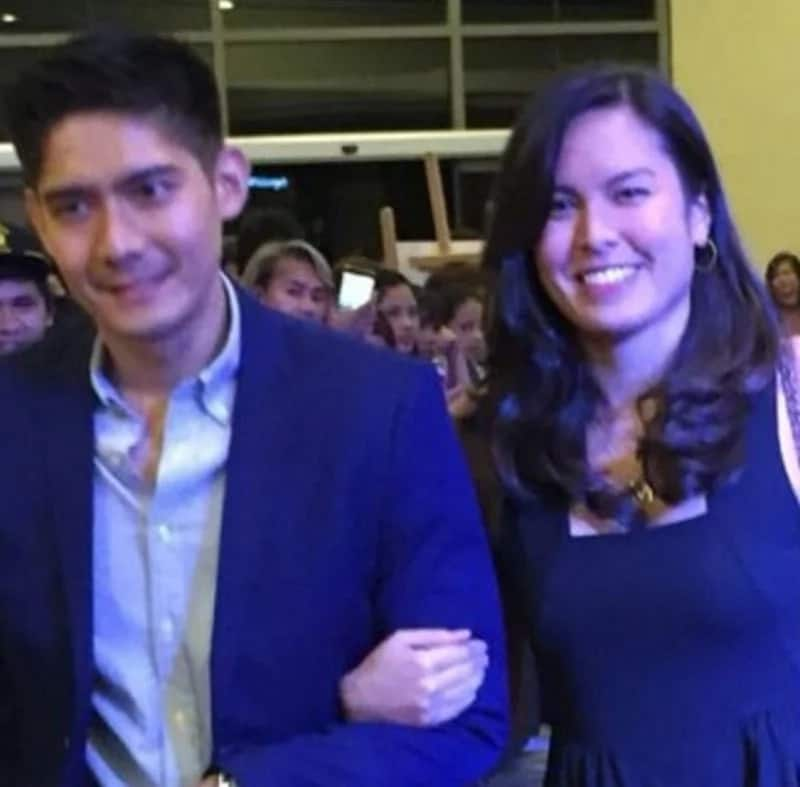 Robi Domingo goes to event with another Atenista Maiqui Pineda linking arms with him