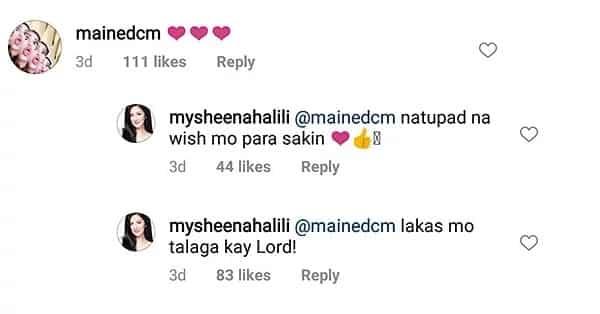 Sheena Halili thanked Maine Mendoza for her new boyfriend