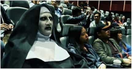 """""""The nun"""" sumipot mismo at nakinood pa raw sa sinehan sa Makati"""