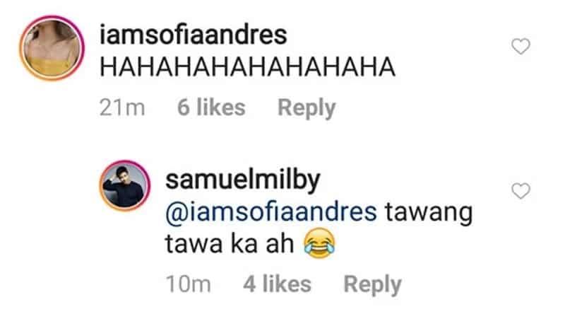 Sam Milby nag-react dahil sa ginawa ni Sofia Andres sa high school graduation pic niya