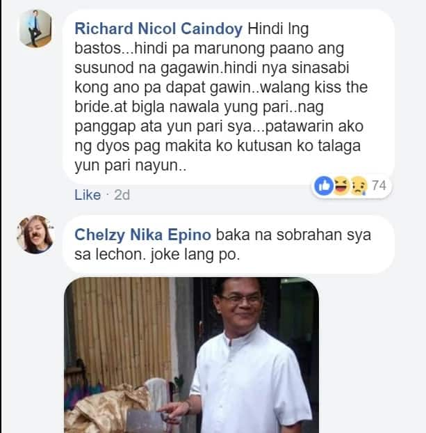 """""""Ako ba ay magkakasal o maglilibing?"""" A newlywed bride rants on Facebook about the """"worst priest"""" she ever met"""