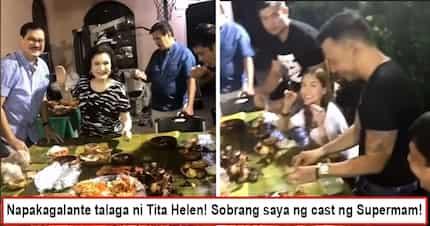 "Galante talaga si mamshie! Helen Gamboa prepares huge boodle fight for all ""Super Ma'am"" cast"