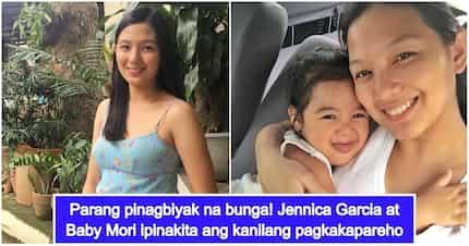Like mother, like daughter! Jennica Garcia and Baby Mori look like twins!