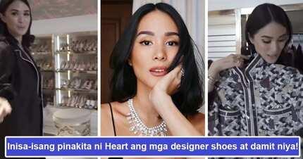 Mapapanganga ka sa laki! Heart Evangelista pinakita ang kanyang mala department store na walk-in closet