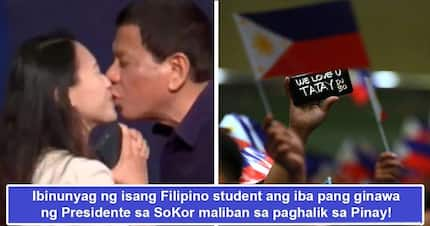 Di nakakatawa! Filipina student-volunteer in SoKor alleges other things that transpired aside from controversial Duterte kiss, 'borderline traumatic'