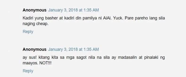 Mga wala daw breeding! Family of Ai-Ai delas Alas receives negative comments after they defended Ai-Ai's daughter from a basher