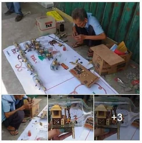 Old man builds mind-blowing, miniature 'bahay kubos'