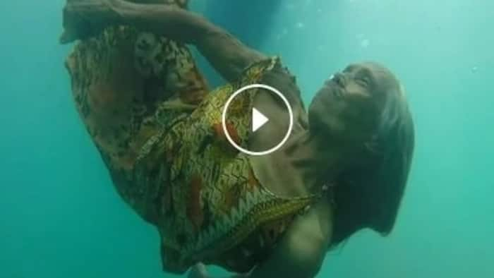 VIDEO: This 74-year-old grandma dives into the ocean daily to collect coins for her family!