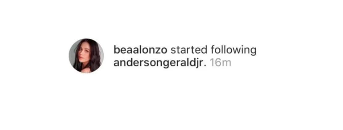 Ginamit lang pang promo? Bea Alonzo re-follows Gerald Anderson on Instagram
