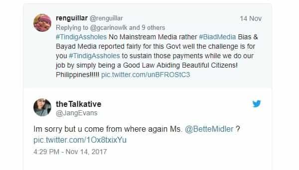 """Ininsulto si Duterte! Hollywood star calls President Duterte a """"dictator"""" on Twitter"""