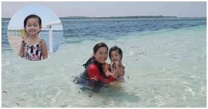 Pretty mother and daughter goals! Mariel Padilla at Isabella super cute sa kanilang beach escapade