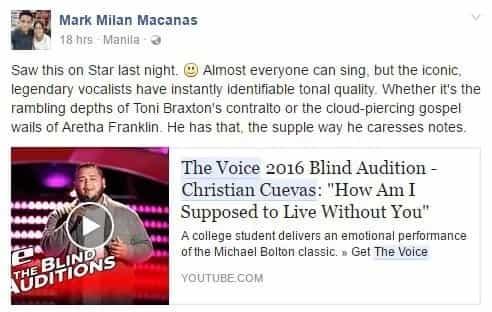 Christian Cuevas of 'The Voice' impresses Filipino netizens