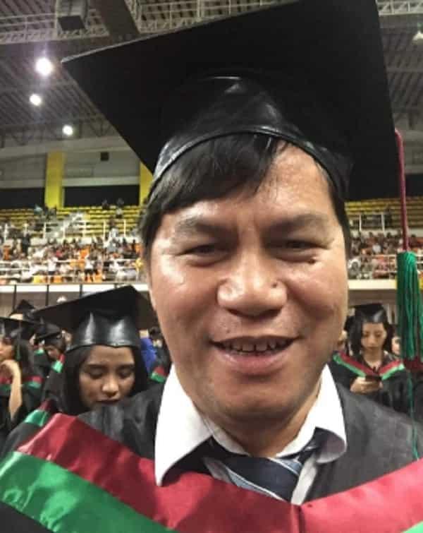 Tatay na nakapagpatapos na ng 3 anak, graduate na rin sa edad na 48