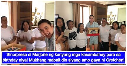 Mababait na kasambahay! Marjorie Barretto receives a birthday surprise from her house helpers
