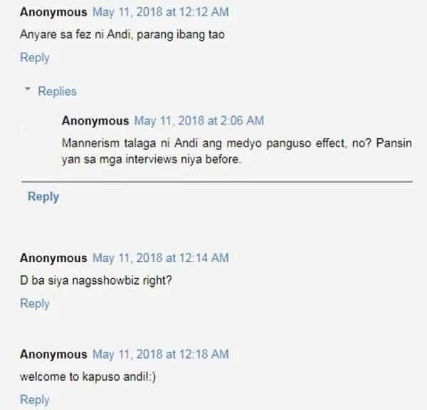 Netizens nag-react nang makita ang parang nag-iba daw na mukha ni Andi Eigenmann nang mag-guest sa GMA