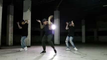 Watch Zeus Collins heat up the dance floor with his steamy dance cover of 'Versace on the Floor'