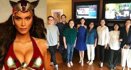 Pia Wutzbach just had a lunch meeting with ABS-CBN executives. Will she be playing 'Darna'?