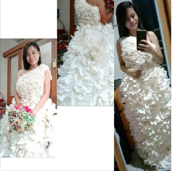 Galing! Pinay helper sa Malaysia, pasok sa creative gown competition sa Kuala Lumpur