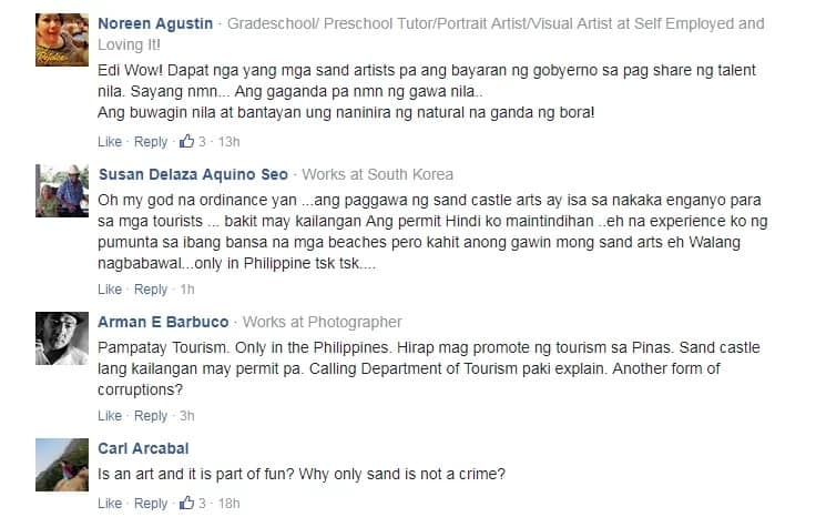 Sinira lang ang pinagpaguran! Netizens slam PNP officers for destroying 'illegal' sandcastles in Boracay