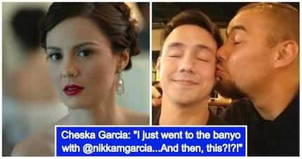 Nawindang sina Cheska at Nikka Garcia sa litrato ng kanilang mga mister