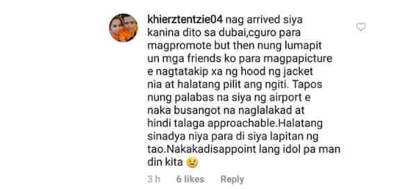 Angelica Panganiban, sinagot ang isang netizen na nagreklamo sa kanyang inasal