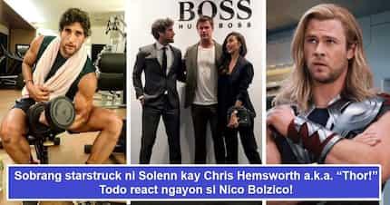 Nagselos kay Thor? Solenn Heussaff na-startruck nang husto kay Chris Hemsworth, Nico Bolzico nag-react