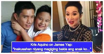 """Kris Aquino, nagalit ng todo kay James Yap dahil sa komento niyang """"magiging bakla"""" si Bimby"""