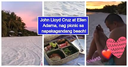 Buhay milyonaryo! John Lloyd Cruz & Ellen Adarna share glimpse of their awesome picnic at stunning beach