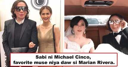 Kinabog ni Yan si Madame Vicki? International designer Michael Cinco hails Marian Rivera-Dantes as his 'favorite muse'