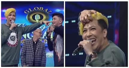 """Vice Ganda almost takes off his yellow hair on """"It's Showtime"""""""