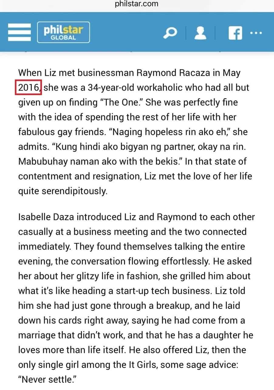 Hindi magkatugma! Netizens nagreact sa lumabas na report tungkol kay Liz Uy at Raymond Racaza