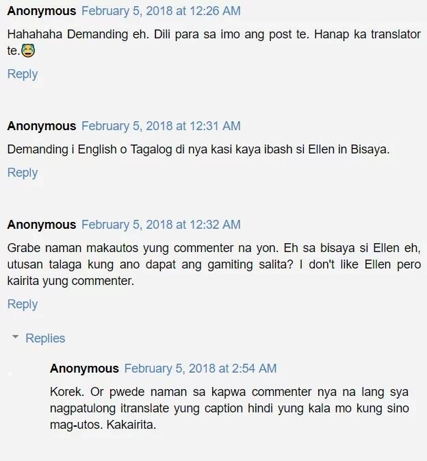 Problema mo na daw yun! Ellen Adarna refuses to give in from a netizen's request to translate her caption