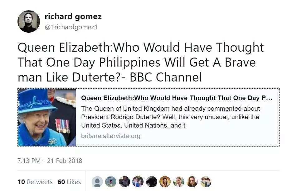 Nagpapakalat daw ng fake news! Netizens slam Richard Gomez for tweeting a fake news article