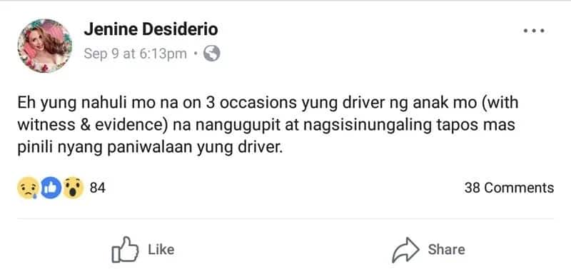 Jenine Desiderio catches Janella Salvador's driver stealing but daughter sides with the latter