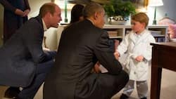 Cute! Prince George meets the Obamas