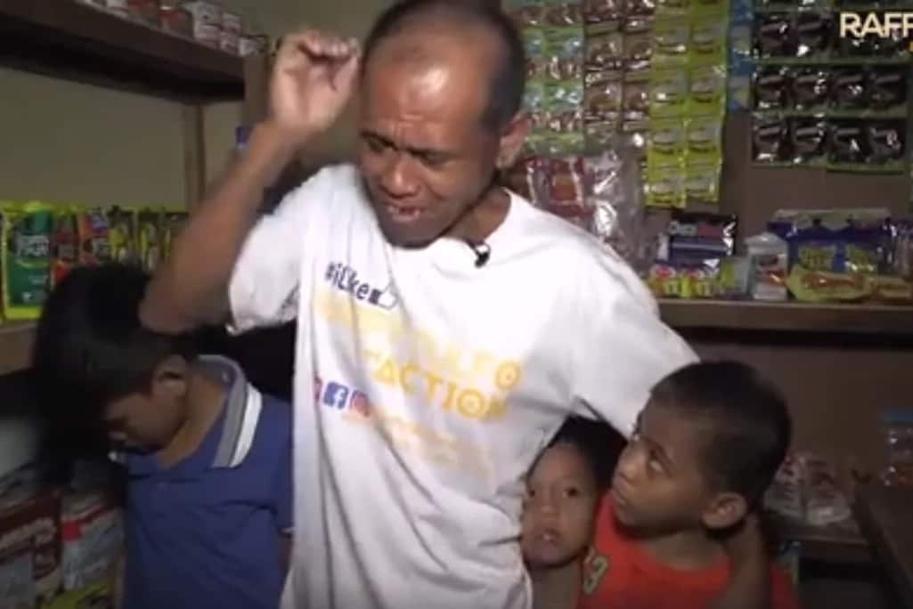 Naiyak sa kabaitan ni idol! Father aided by Raffy Tulfo tearfully thanks idol for helping them
