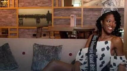 Winner na winner! Heptathlete Dee-Ann Rogers, crowned as the first-ever black representative of Miss Universe UK