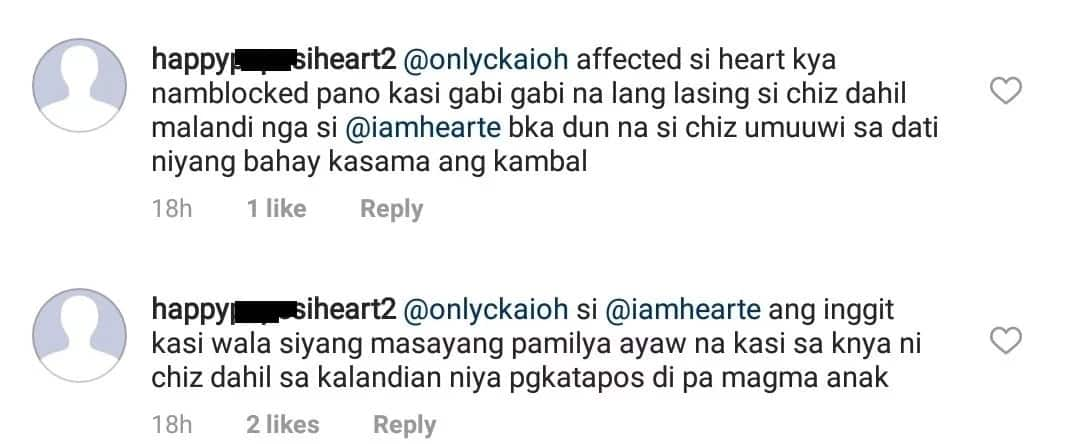 Heart Evangelista reacts to netizen who bashed her relationship with husband Senator Chiz Escudero