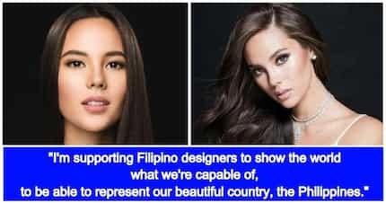 Sure na sure na! Gown ni Catriona Gray sa 'Miss Universe 2018' gawa ng isang Filipino Designer
