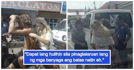 Filipinos react to viral photos of Bohol police who reprimanded foreign tourists for wearing swimsuits in the streets