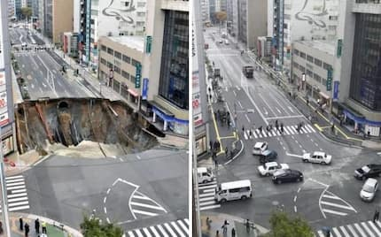 Japan fixes giant sinkhole in just 2 DAYS