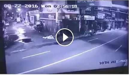 Chilling video of speeding car crashing to a motorcycle