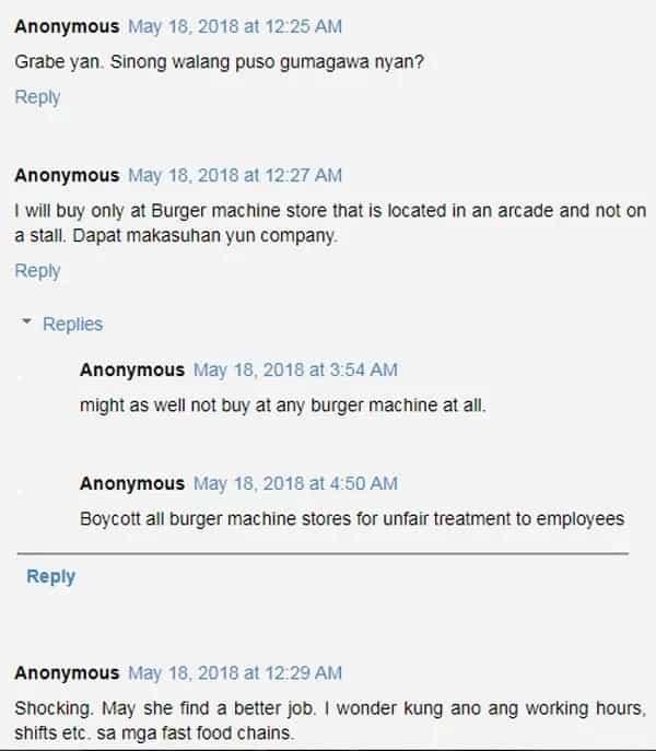 Burger Machine binatikos ng netizens dahil pinagtatrabaho diumano mga empleyado ng 48 hours deretso walang tulugan