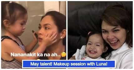 Super cute ng mag-ina! Video ni Judy Ann Santos habang mine-makeup-an ng bunsong anak na si Luna Agoncillo