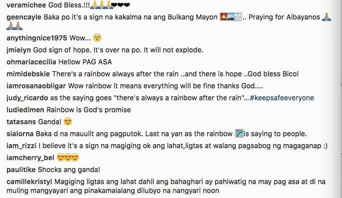 Tapos na ba ang pagsabog? Rainbow spotted over Mayon in breathtaking photo